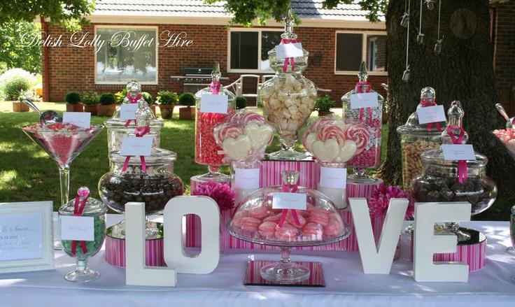 Delish Lolly Buffet Hire - Lolly Jars - Wedding - Event Hire Ringwood Maroondah Area image 1