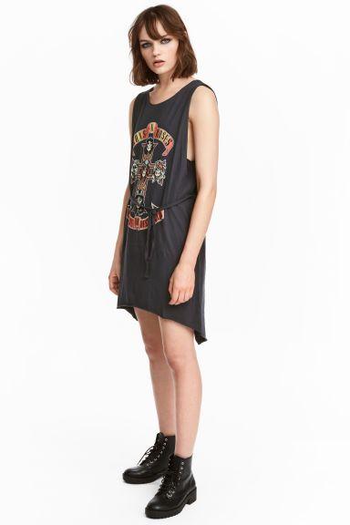 Sukienka bez rękawów - Czarny/Guns N' Roses - ONA | H&M PL 1