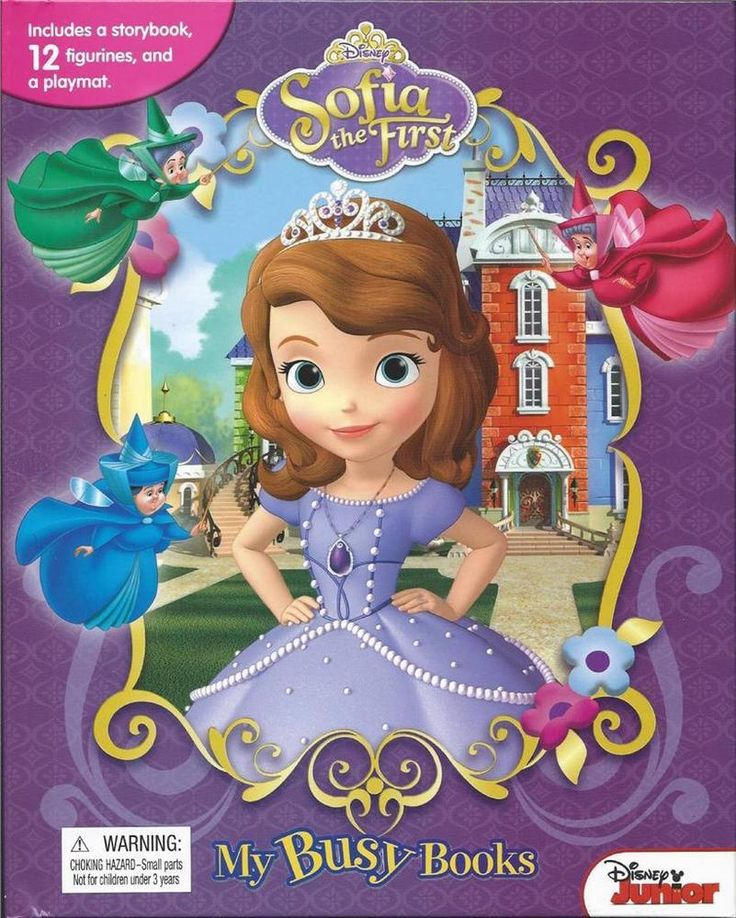 Disney Jr Princess Sophia First My Busy Books 12 Figures Play Mat Storybook NEW #Unbranded