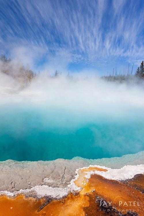 hot springs, Yellowstone National Park, Wyoming.  Photo: Jay Patel