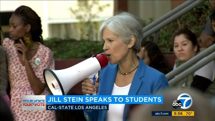 Jill Stein Campaigns at California State University in Los Angeles 6th O...