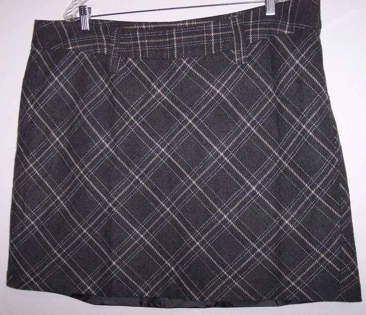 Venezia Skirt 22 Gray Wool Blend Women's Career Fall Fashion Free Shipping #Venezia #ALine #Career
