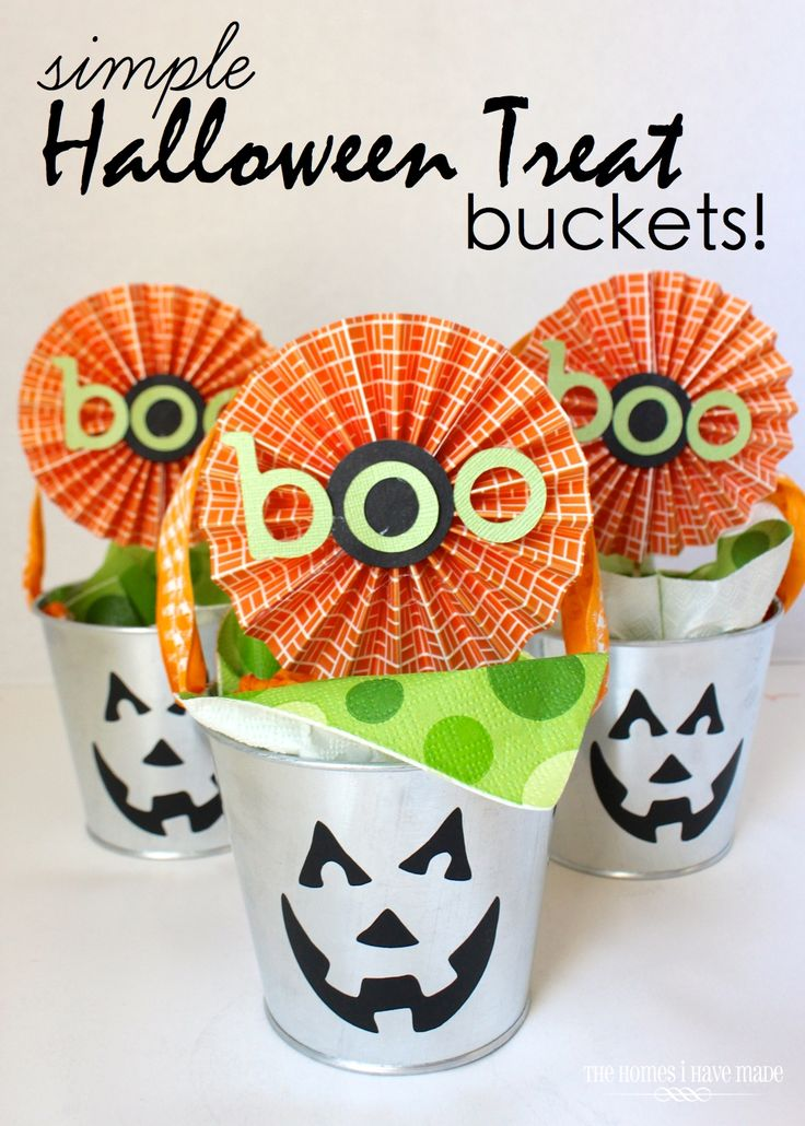 simple halloween treat buckets - Halloween Projects Diy