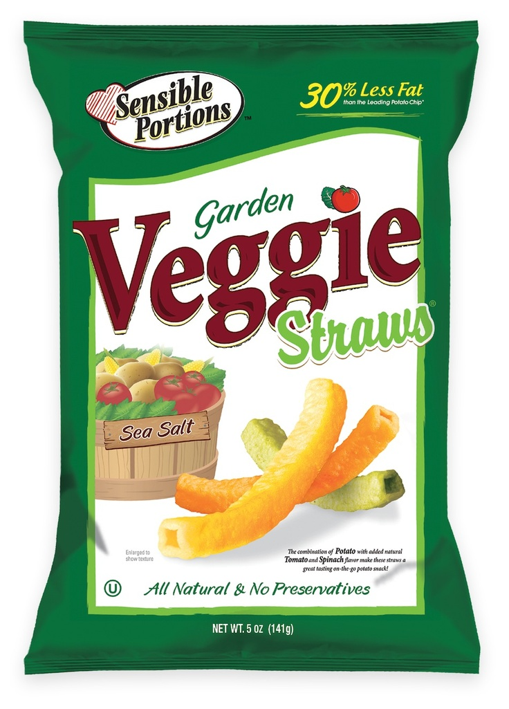 Sensible Portions Veggie Straws....  Can't stop munching on these!!!
