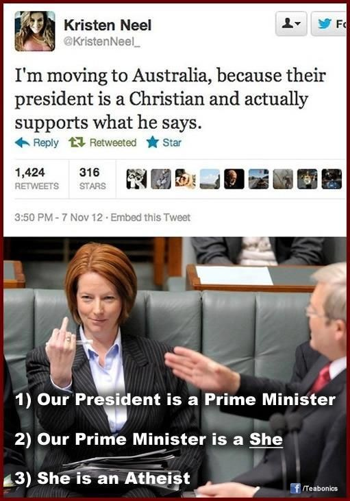 Meanwhile in Australia - yes, she will be the Future Prime Minister of Australia