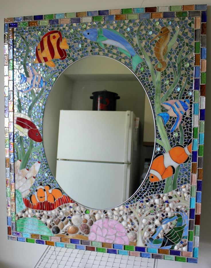 bathroom mirror mosaic reef bathroom vanity mirror the bathroom 11060