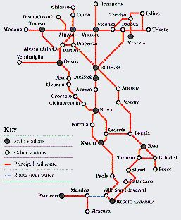 The italian state rail network operates variuos different types of the italian state rail network operates variuos different types of interesting stuff pinterest italy train train map and italia sciox Image collections