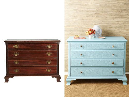 See @knackstudio transform a dresser from Goodwill from drab to fab in @WomansDay