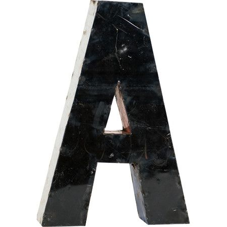 Artfully crafted from upcycled oil drums, this metal letter wall decor brings a personalized touch to your favorite spaces.  Product...