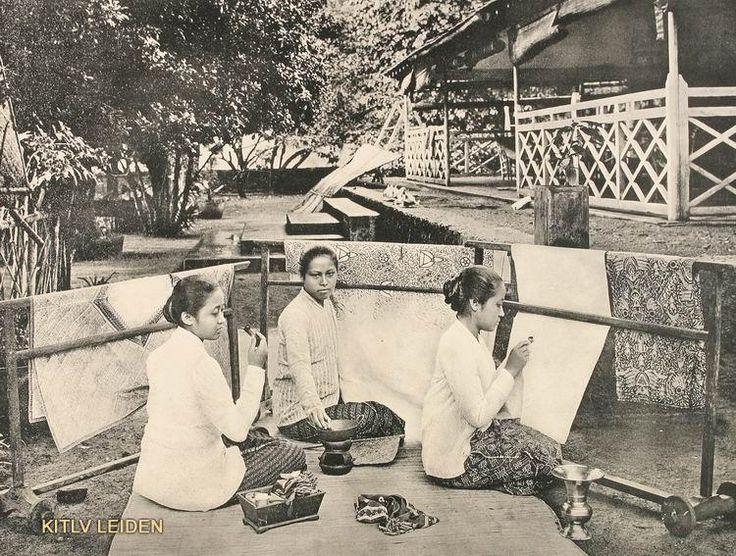 Batik Ken door drie adel like monger Brouwer op Java 1910.
