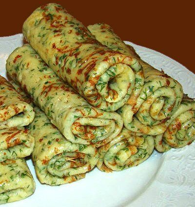 Сырные блины с зеленью | Домохозяйка