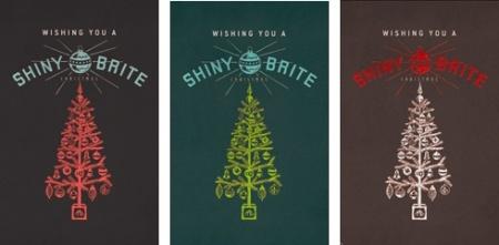 Shiny Brite Christmas Poster