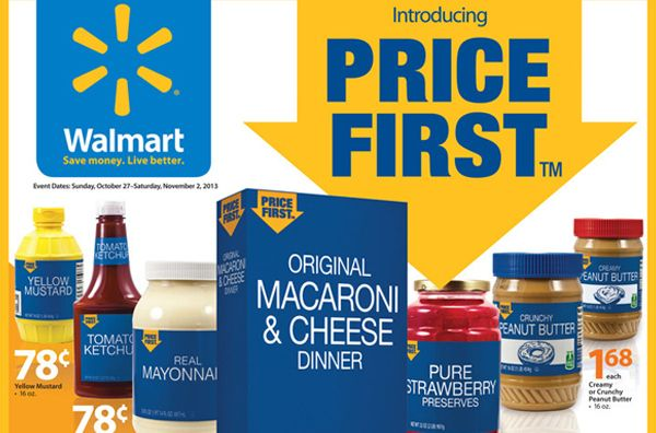 Wal-Mart's New 'Checkout Promise' and 'Price First' Private Brand