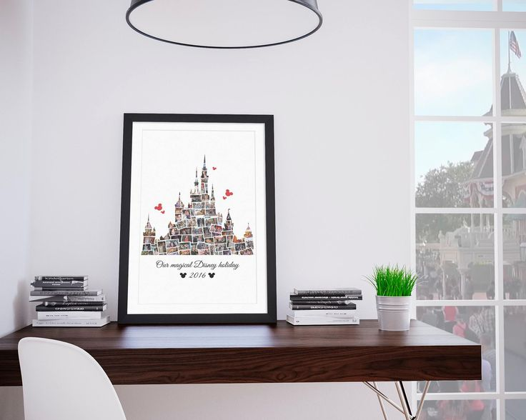 (£)15 Walt Disney World Cinderella Castle Photo Collage - Custom - Digital Print #disney #disney #disneyworld #holidayphotos #montage #collage #digita #castle