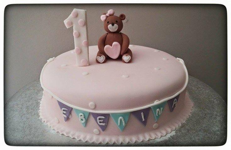 1st Birthday Girl cake by Konstantina Chalkia