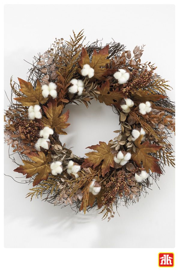Decorate your home with this unique Fall Harvest Wreath and pay tribute to the motifs of harvest season!