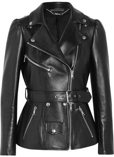ALEXANDER MCQUEENBelted leather biker jacket. wearethebikers.com, Skull, Biker, Motorcycle, Men, Women, Goth, Fashion, Leather, Cool, Holiday.