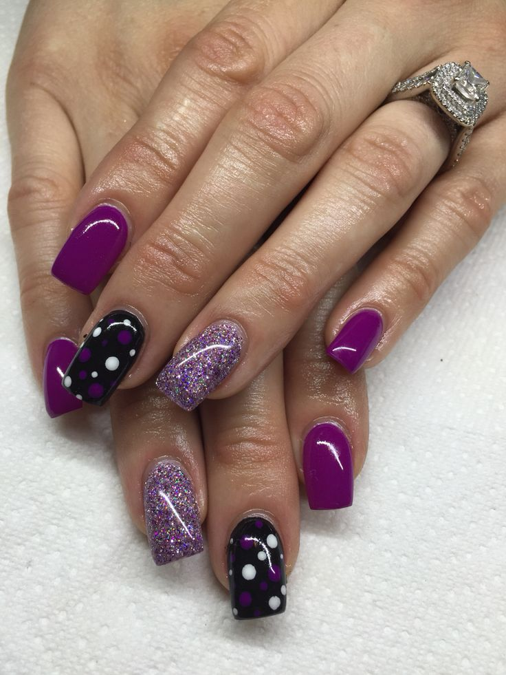 1000+ Ideas About Purple Gel Nails On Pinterest