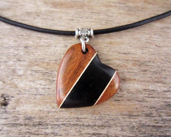 Hand Carved Wood Heart Necklace Lovers Gifts For Her Wood Heart Necklace Wooden Jewelery Wooden Jewelry