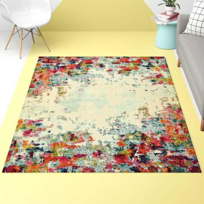 Hashtag Home Annmarie Cream Abstract Area Rug Reviews Wayfair In 2020 Area Rugs Blue Area Rugs Hashtag Home