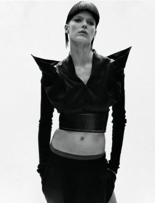 glassorganelle: complexmisfit: Shannan Click, 2005. Styled by Jo Allen in Rick Owens. Photographer - Takay