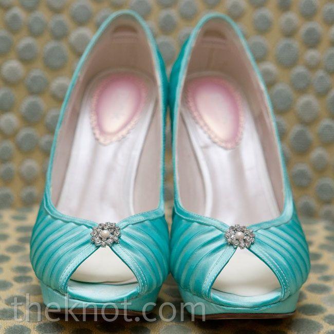 Blue Bridal Shoes