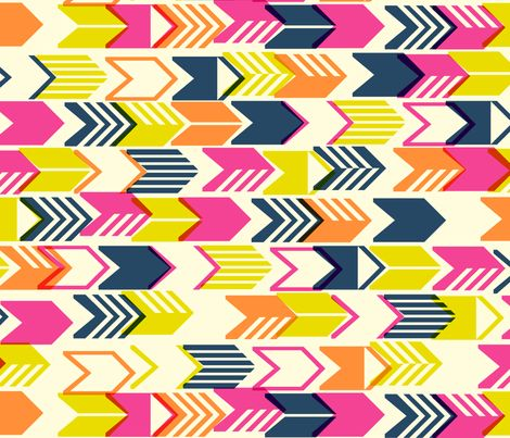 Tribal Arrows (Navy Maxi) fabric by pennycandy on Spoonflower - custom fabric | graphic and a little retro