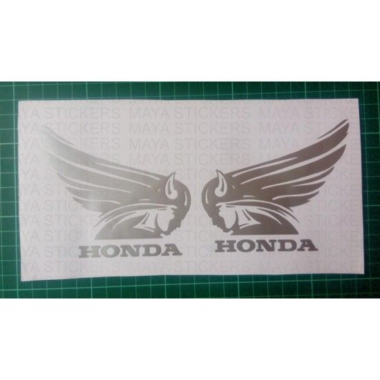 Unique old style honda logo with wings decal / sticker suitable for Honda cars like Honda brio, Honda Amaze, Honda Jazz, Honda Mobilio, Honda City, Honda CR-V,  and bikes like Honda CB Shine SP, Honda Dream Neo 2015, Honda CD 110 Dream,  Honda Activa, Honda Dio, Honda Aviator, Honda Dream Yuga, Honda Livo, Honda CB Unicorn 160, Honda CBR 150R, Honda CB Trigger, Honda Hornet 160R, Honda Lead, Honda NXR 160. This unique decal is exclusively available from Maya Stickers.  The sticker is…