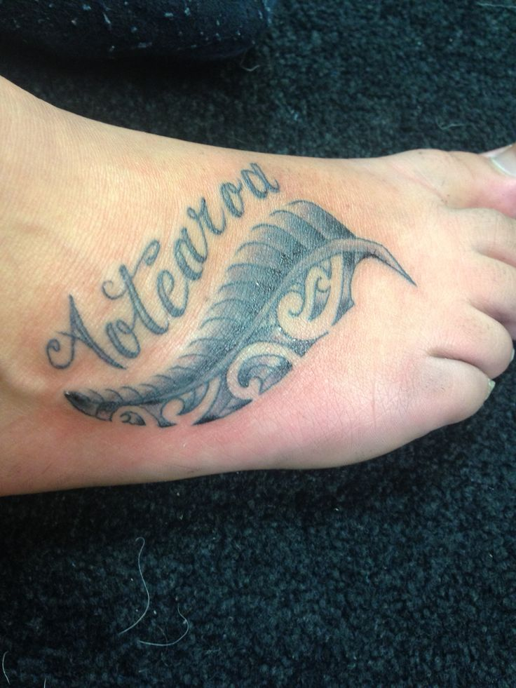 Aotearoa and a silver fern tattoo. To represent my time in New Zealand :)