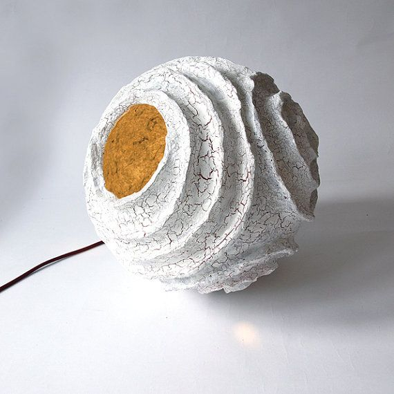 Floor lamp rosetta made of paper mache by for Making paper pulp sculpture