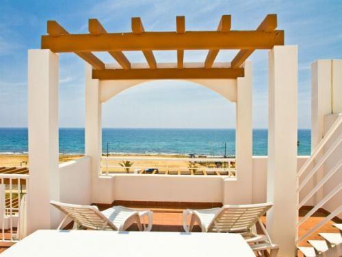 Terraza con vista al mar en uno de los #apartamentos del Pierre & Vacances Mojacar Playa.