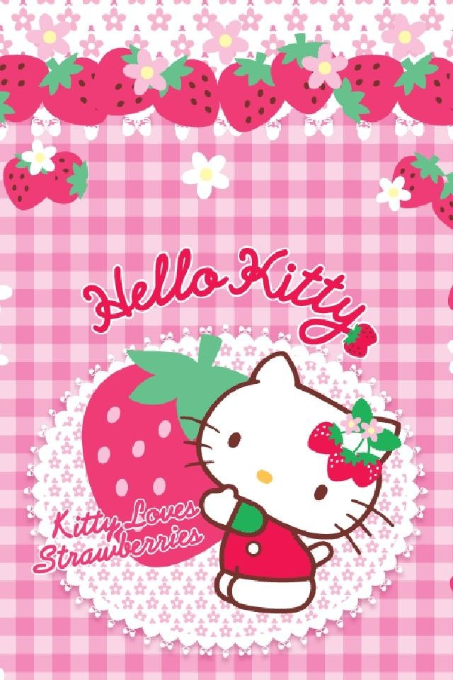 Free Hello Kitty Strawberry Mobile Wallpaper By Fairyangel On Tehkseven