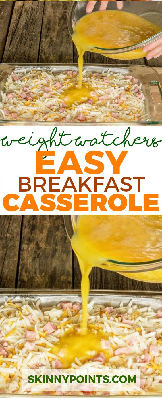 EASY BREAKFAST CASSEROLE - Weight Watchers Smart Points Freestyle Friendly