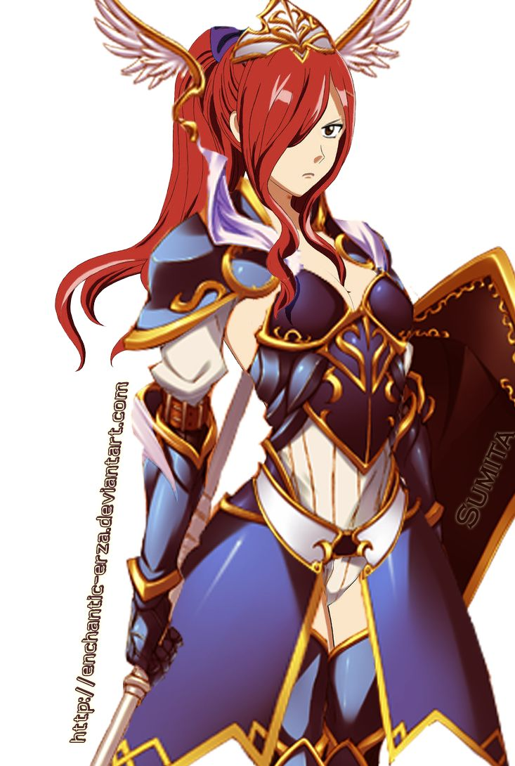 Erza Scarlet Sapphire Guardian Armour by enchantic-erza