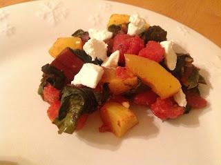 delish in a dish: Butternut Squash, Tomato, and Swiss Chard Casserole