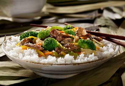 La sauce aux haricots noirs est une spécialité chinoise préparée à partir de haricots noirs séchés et fermentés, d'eau et de farine de blé. On la retrouve dans les épiceries asiatiques ou dans la section des produits orientaux des supermarchés. Si on n'a pas de bifteck de flanc, on peut préparer ce sauté avec la même quantité de filet de boeuf ou de porc coupé en fines lanières.