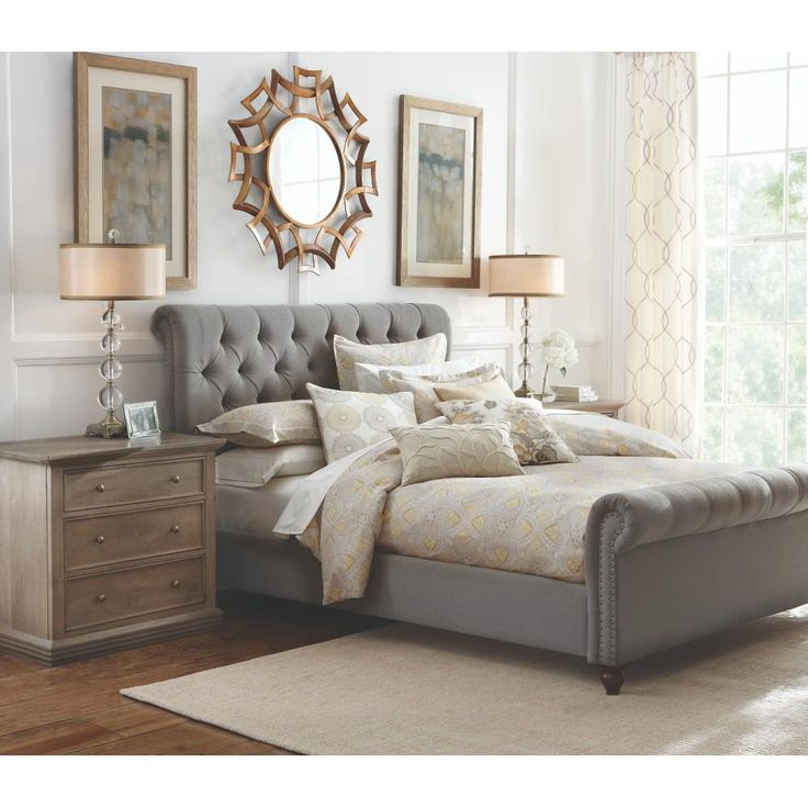 Home Decorators Collection Gordon Grey Queen Sleigh Bed-2309800270 - The Home Depot