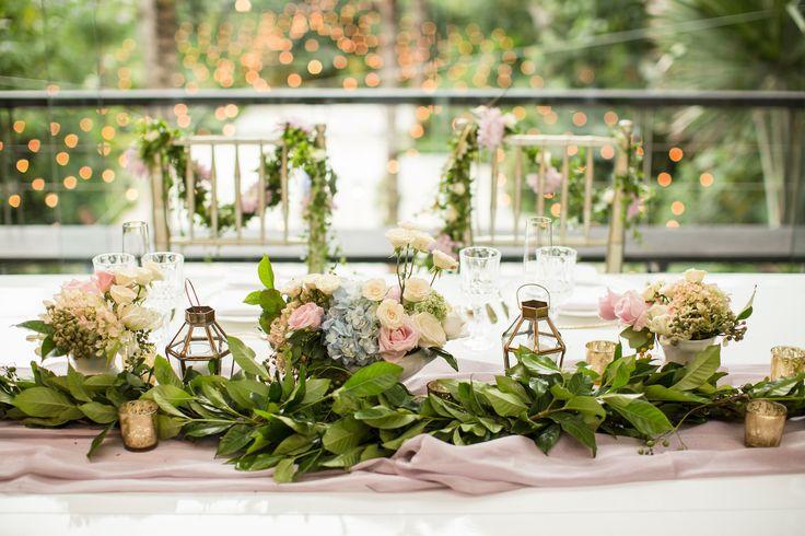 Fairy Tale Wedding Bridal Table in Dusk