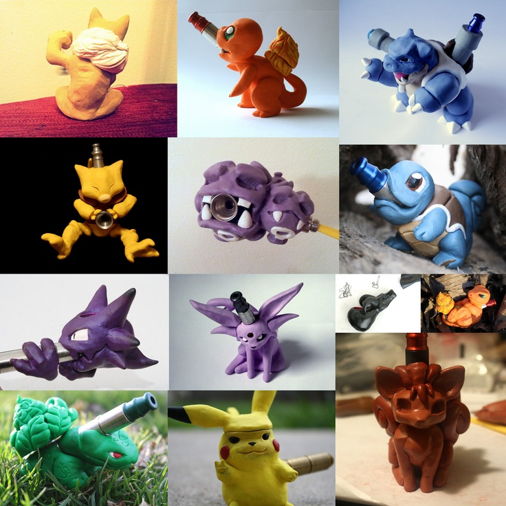 CUSTOM Sculpted Made-to-Order Pokemon/Character Pipe. $285.00, via Etsy.