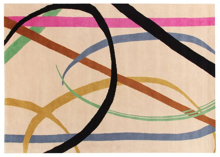 Lettera disegnata Rug Gio Ponti Carpet Collection Handknotted in Nepal by AMINI Tibetan Wool  250x300cm