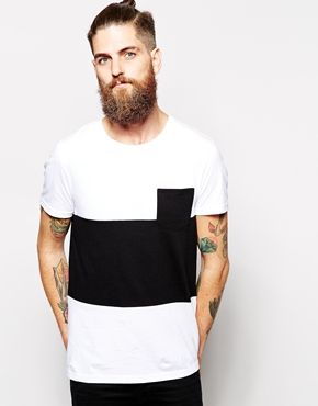 Enlarge ASOS T-Shirt With Cut And Sew Panels