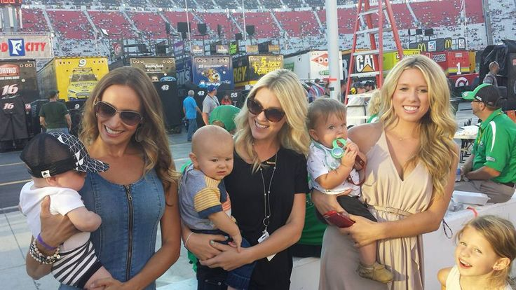 Samantha Busch with her son Brexton, Katelyn Sweet with her son Owen, and Whitney Scott with her kids Brielle and Joseph