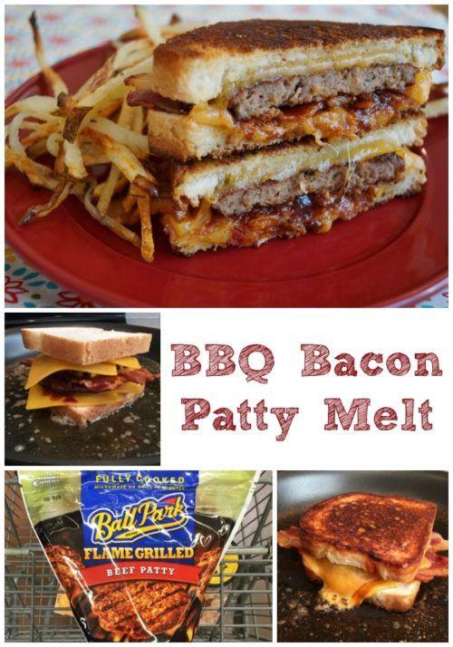 BBQ Bacon Patty Melt | This tastes like the best diner patty melt I ...