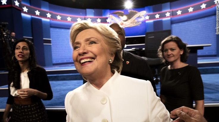 Hillary Clinton has won the final presidential debate, beating Donald Trump by 13-points, according to a CNN/ORC poll of viewers. This gave Hillary Clinton a clean sweep across all three of this year's presidential debates. She is making history as our first female presidential candidate and dominating Donald Trump. -Kelime R