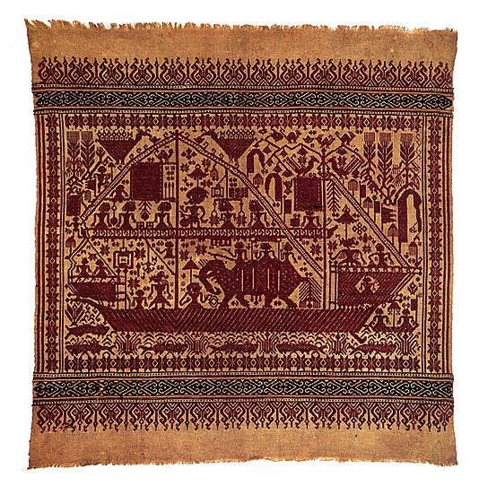 Ceremonial Textile (Tampan)  Date:     19th century Geography:     Indonesia, Sumatra, Lampung province, Semangka Bay region Culture:     Pasisir people Medium:     Cotton