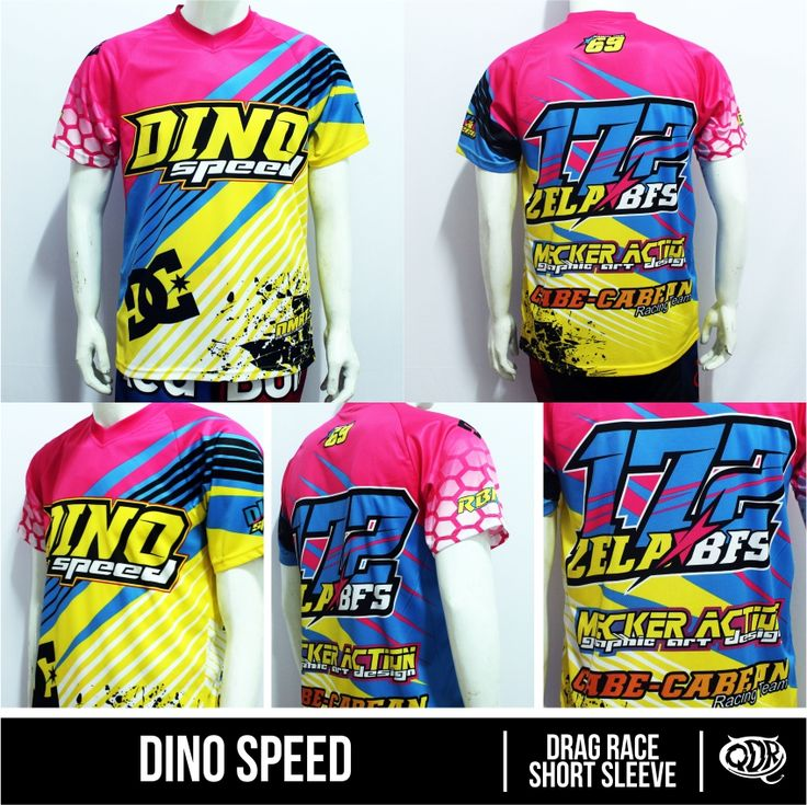 Drag Race Jersey Dino Sdy Sublimation Print By Qita Design