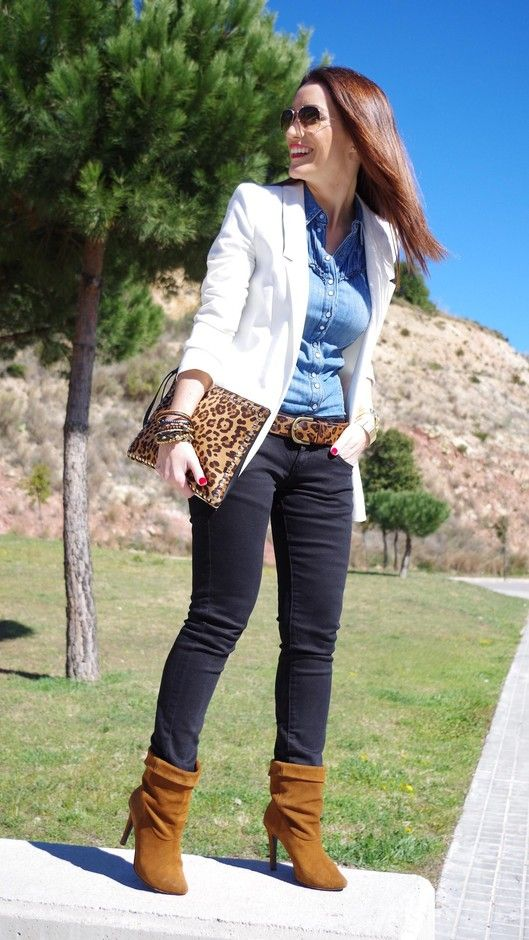 20 Awesome Outfits With Denim Shirts - Fashion Diva Design