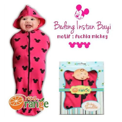 Swaddle Bedong Instan Baby Orange Mickey - http://www.adorababyshop.co/jual/swaddle-bedong-instan-baby-orange-mickey/