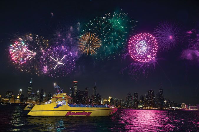 Seadog Chicago fireworks cruise from Navy Pier