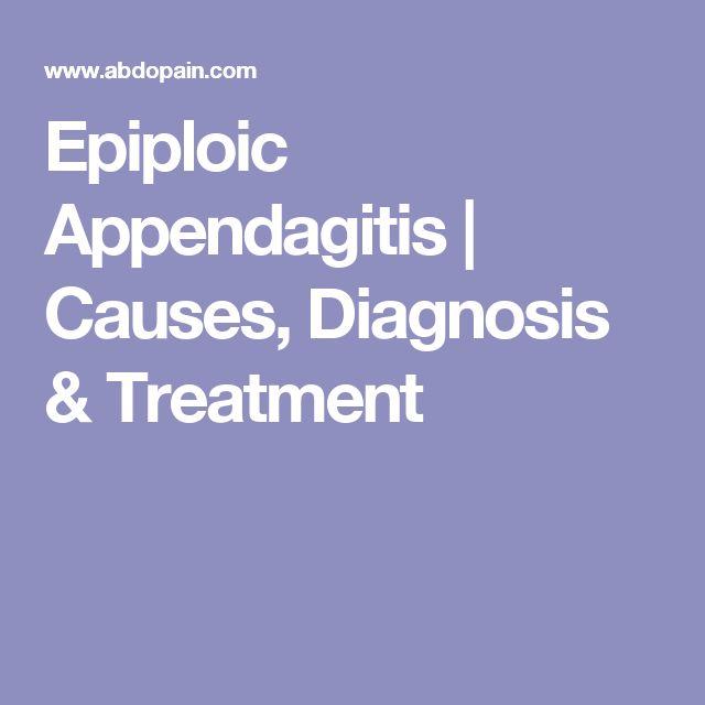 Epiploic Appendagitis Natural Treatment
